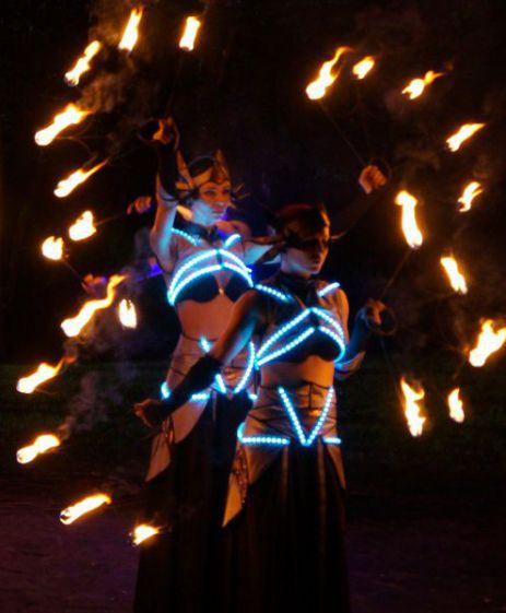 fire-led show 2 ppl