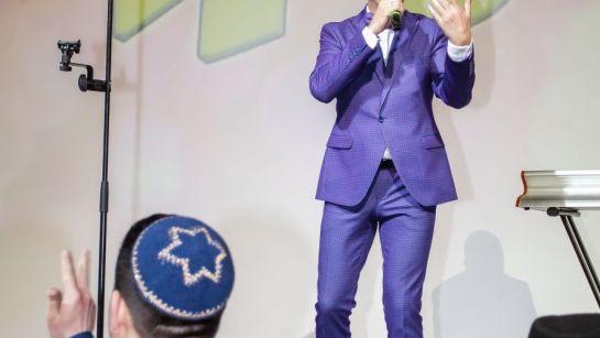 Дядя Жора ведет конкурс на празднике Пурим 2020