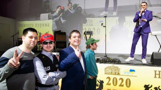 Дядя Жора и участники конкурса на празднике Пурим 2020