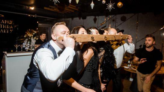 Конкурс с Бармен шоу на Gatsby birthday party с Дядя Жора Company