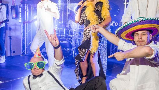 Наталья Могилевской поет на Gatsby birthday party с Дядя Жора Company