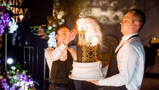 Оригинальный торт на вечеринке Gatsby birthday party с Дядя Жора Company