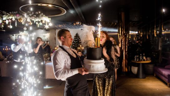 Красивейший торт на вечеринке Gatsby birthday party с Дядя Жора Company