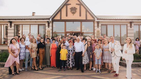 Фото с гостями на Юбилее 50 лет в г.Гайворон с Дядя Жора Company