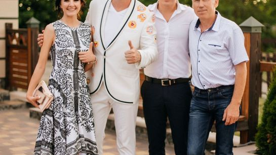 Дядя Жора с гостями праздника Юбилея 50 лет в г.Гайворон с Дядя Жора Company